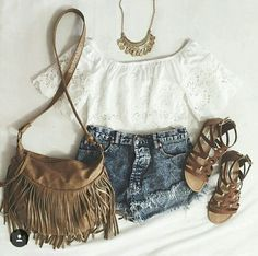 Look fashion, #bohemio, #short, #cute, #comodo, #fashion, #casual, #moda, #outfits, #estilo, #informal, #sandalias, #sombrero