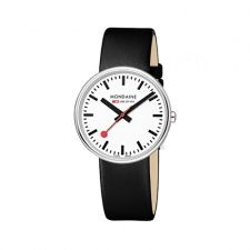 Mondaine Official Swiss Railways Watch Women's/ Men's Watch Quartz with Black - Men's style, accessories, mens fashion trends 2020 Stainless Steel Polish, Stainless Steel Bracelet, Brown Leather Strap Watch, Black Leather, Piercings, Swiss Railways, Swiss Made Watches, Hand Watch, Vintage Watches For Men