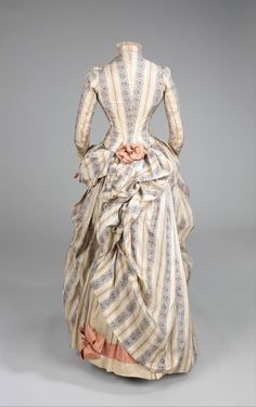 Dress ca. 1885 From the Metropolitan Museum of Art