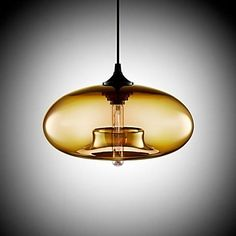 Modern Characteristic 1 Light Pendant With Transparent Shade – EUR € 82.49