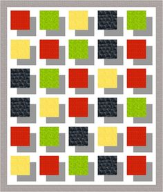 Shadow quilt mock up - use Comma fabric