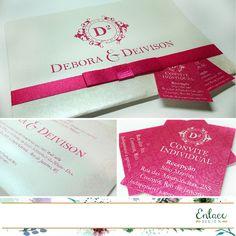 Convite de casamento - Clássico - Pink.