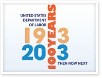 This is the Department of Labor's 100th anniversary logo.