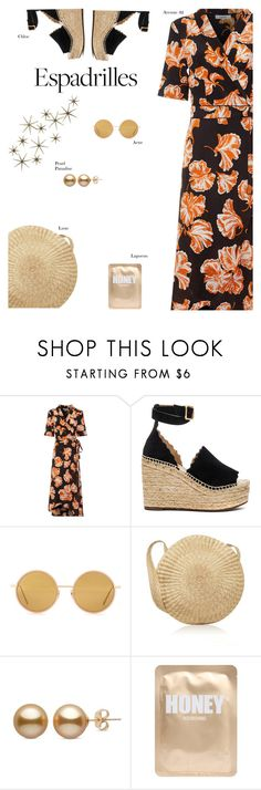 """Espaderille"" by s-thinks ❤ liked on Polyvore featuring Ganni, Chloé, Acne Studios, Lapcos, Global Views and topset"
