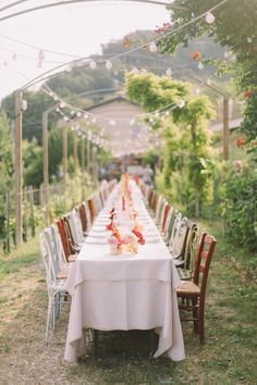 family style reception tables - photo by Nastja Kovacec http://ruffledblog.com/wedding-in-the-prosecco-hills #weddingreception #weddingideas