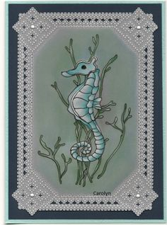 By Carolyn C.  Colouring on back.  Border design from Parchment Borders.