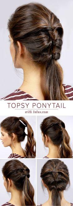 5 enkla frisyrer Stylish Ponytail, Short Hair Ponytail, French Braid Ponytail, Prom Hair Updo, Braided Ponytail Hairstyles, Ponytail Ideas, Hair Bow, Men's Hair, Pony Tails