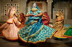 Rajasthani colourfull Ghumad costume for women which shows culture of rajasthan INDIA