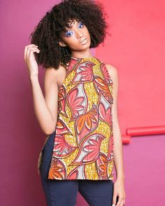 Ankara tops generally are every woman's desire as it helps to enhance the natural figure. It fits all body sizes extremely well, and its Ankara styles are outstanding and spectacular. African Fashion Ankara, African Inspired Fashion, Latest African Fashion Dresses, African Dresses For Women, African Print Fashion, African Attire, African Print Top, African Tops For Women, Africa Fashion