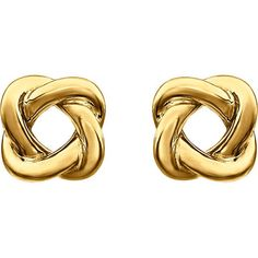 These 14kt Yellow Knot Design Earrings are perfectly classic.