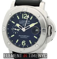 Officine Panerai Luminor North Pole GMT Mike Horn Special Edition 44mm iN Stainless Steel With A Blue Arabic Dial Circa 2006 (PAM 252)