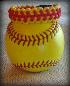 Softball Stitch Bracelet Paracord Like by CustomCowboyTack on Etsy Softball Jewelry, Softball Crafts, Softball Mom, Softball Cheers, Softball Pitching, Softball Stuff, Softball Shirts, Fastpitch Softball, Softball Players
