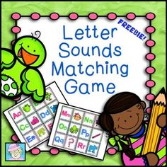 FREE! I made this game to help my students learn letter sounds in preparation for reading 3-letter words!  This game includes the most frequent sound of each consonant, as well as short vowel sounds.  These are presented in a simple, matching game format just right for little learners!