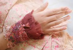 romantic wrist wrap from antique laces, silk and nuno felt, shabby chic