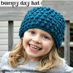 Bumpy Day Hat - Free Crochet Pattern - Newborn to Adult Large  crochet   freepattern 9adf792fe57
