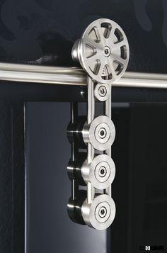 SPIDER sliding door manufactured by MWE // Designed by Mario Wille // www.mwe.de/en/door-systems/sliding-doors/classical-sliding-doors/sliding-door-spider