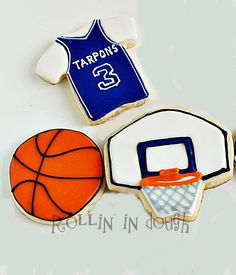 Basketball Cookie Favors  Basketball, Backboard, Jersey
