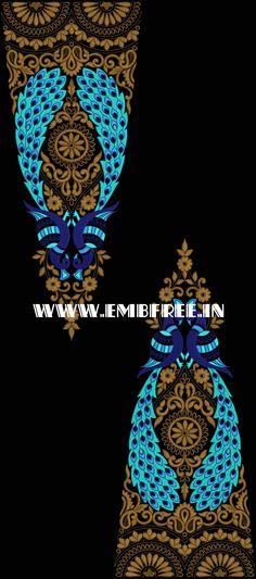 Lehenga Choli Embroidery Design Lehanga choli design Border Embroidery Designs, Embroidery Patterns, Hand Embroidery, Machine Embroidery, Choli Designs, Lehenga Choli, Fabric Painting, Diy And Crafts, Sketches
