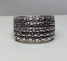 Unisex Michael Dawkins Sterling Silver Snake Skin Ring Size 9 #MichaelDawkins #Statement