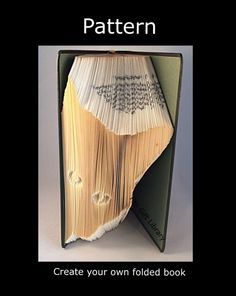 Folded Book Art Pattern Cat  Pattern to create by TheGiftLibrary