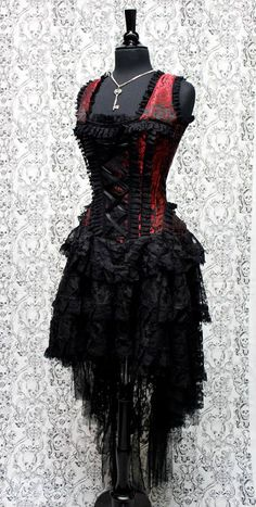 MOULIN ROUGE DRESS - RED/BLACK