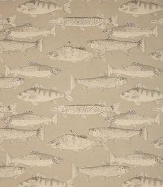 Voyage Decoration Aquarius Fabric / Sepia | Just Fabrics