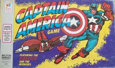 Collectible Board Game of Captain America – All About Fun and Games Captain America Games, Captain America Merchandise, Parker Games, Oh Captain My Captain, Free Comic Books, Vintage Board Games, Super Soldier, Free Comics, Old Games