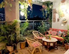 groß Ein Balkongarten in Mumbai: Terrace Reveal - Dekoration Site / 2019 Small Balcony Garden, Small Balcony Decor, Balcony Design, Balcony Gardening, Balcony Plants, Terrace Garden, Garden Design, Indoor Balcony, Garden Seating