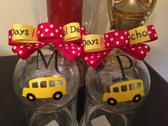 School bus ornaments.  Beautiful ornaments on this site.