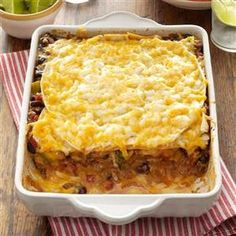 Taco Lasagna Recipe | Taste of Home