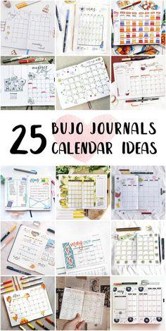 Vintage Bullet Journal Monthly Calendar Planner Inspiration - Cute Bullet Journal Doodles #bulletjournalsdotted #bestbulletjournals #bulletjournalmonthly