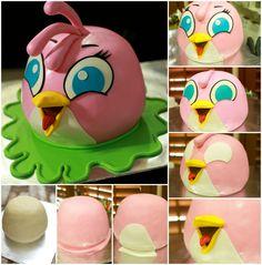 Bila kak Lina minta ita tolong buatkan kek anggry birds untuk anak buahnya.. ita rasa terkedu seketika bila melihat contoh kek yang bel...