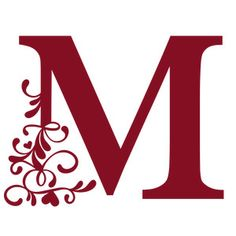 Silhouette Design Store - View Design #245836: flourish heart monogram - m