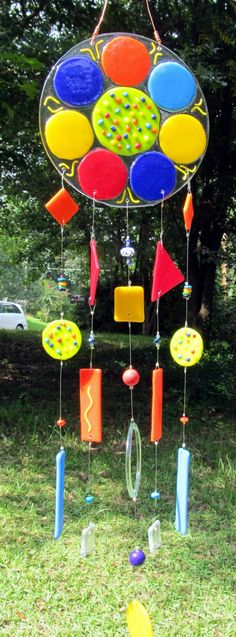 Funky Flower Windchime by ColleenGail on Etsy, $69.95
