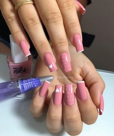 💅 Quer aprender a fazer Unhas de Fibra e de Gel e aumentar sua renda ? Gel Uv Nails, Nail Manicure, Acrylic Nails, Funky Nails, Cute Nails, Pretty Nails, Hair And Nails, My Nails, Blush Pink Nails