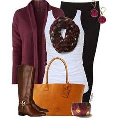 Burgundy sweater, black jeans white tank top with a burgundy scarf, paired with brown boots and orange bag. Stitchfix fall fashions. Try stitch fix subscription box :) It's a personal styling service! 1. Sign up with my referral link. (Just click pic) 2. Fill out style profile! Make sure to be specific in notes. 3. Schedule fix and Enjoy :) There's a $20 styling fee but will be put towards any purchase!