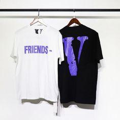 2018 Uusi VLONE T-paita Purpose Tour Men Ystävä Big V 1  1 Valaistus  T-paidat Kanye West Hip Hop-merkin muoti T-paidat 100% puuvillaa ce5eda1d50