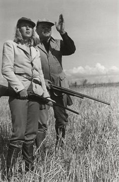 What to wear birding--minus the rifle. Martha Gellhorn and Ernest Hemingway | ROBERT CAPA