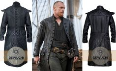 """""""Dewuchi"""" Created Toby Stephens Black Sails Captain Flint Black Leather Trench Coat for Boys. This Stylish Trench Coat Worn By Toby Stephens in TV Series Black Sails as Captain Flint. Made from Real Leather Available at Our Online Store in Discounted Price.  #tobystephens #blacksails #parties #shopping #fashion #tvseries #awesome #womanfashion #girlsfashion #clubs #concerts #stylish #famous #winterfashion #fashionstyle #handsome #gift #casual #lovers #hot #like #moment #photography"""