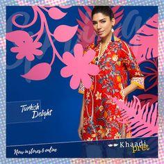 Khaadi turkish delight summer kurta dresses for women http://www.fashioncluba.com/2017/02/khaadi-turkish-summer-women-kurta-dress-collection.html
