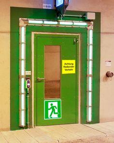 beispiel-tunnel-fluchtwegstuer Fire Prevention, Lockers, Locker Storage, Furniture, Home Decor, Fire Safety, Products, Decoration Home, Room Decor