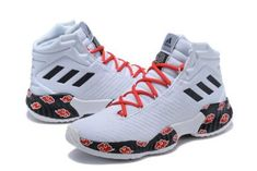 premium selection 96855 dc7bf adidas Pro Bounce 2018 White Red-Black Basketball Shoes-2