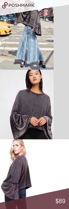 FREE PEOPLE Glorious Sleeves Top (TOP RATED) NWT RETAIL PRICE: $98 New  with Tags SIZING: L= 12-14 Free People Tops Tees - Long Sleeve