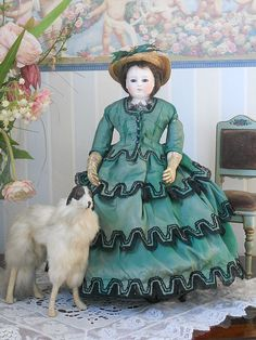 ~~~ Beautiful all original Early French Poupee attributed by Barrois in Original Costume~~~