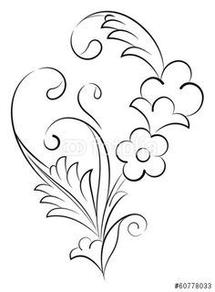 Çini Deseni - Buy this stock vector and explore similar vectors at Adobe Stock Paint Designs, Designs To Draw, Diy Embroidery, Embroidery Patterns, Delicate Tatoos, Flower Line Drawings, Ornament Drawing, Arabic Pattern, Turkish Art