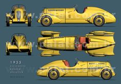 A Garagem Digital de Dan Palatnik | The Digital Garage Project: 1935 Duesenberg SJ Mormon Meteor Speedster Blueprints