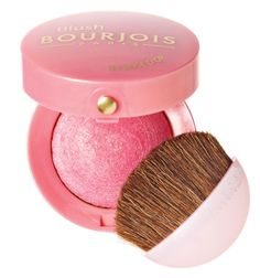 "Bourjois Paris Little Round Pot Blush in 34 Rose D'Or. My fav shimmery pink blush: gives my fair/light skin that ""ski bunny"" look! Bourjois Blush, Bourjois Makeup, Drugstore Makeup, Bourjois Cosmetics, All Things Beauty, My Beauty, Beauty Care, Beauty Makeup, Blush Makeup"