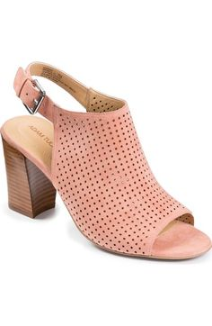 Adam Tucker by Me Too 'Meridia City' Perforated Slingback Peep Toe Sandal (Women) available at #Nordstrom