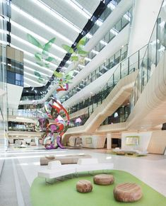 Open plan offices for Doctors! Royal Children's Hospital by Billard Leece Partnership and Bates Smart