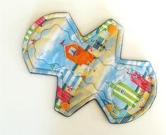 "8"" Heavy / Ultra - Reusable Cloth Pad - Beach Cabanas - cloth pads #Cloth pads #mama cloth #reusable cloth pads"
